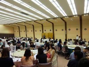 第39回高岡南高校同窓会総会&懇親会。織田同窓会長の冒頭の挨拶。