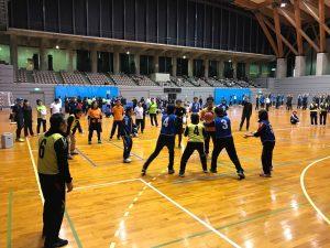 ゆるスポーツの実技のベビーバスケ。