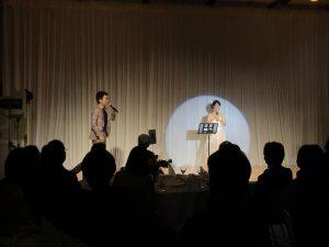 古村勇人トーク&ライブの一コマ。