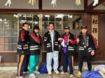 21日。雨の中行われた「第1回高岡ねがいみち駅伝」に地元消防団チームとして参加。