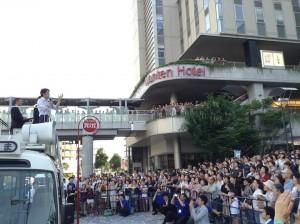 20130707小泉進次郎自民党青年局長・高岡街宣 司会をさせていただきました。