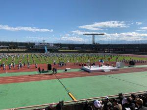 ねんりんピック富山大会の総合開会式の一幕。