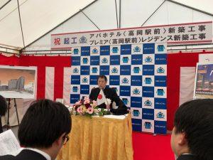 記者発表中の元谷代表。貫禄がありました。