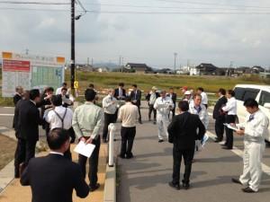 北陸本線・新駅設置予定地にて