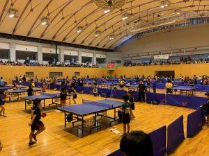 熱戦が繰り広げられた高岡オープン卓球大会