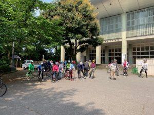 高岡市民サイクリングの出発前の一コマ