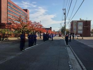 高岡方面団秋季検閲訓練前の一コマ