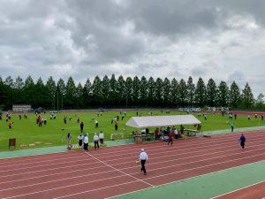 城光寺陸上競技場で行われた県ゲートボール選手権大会。