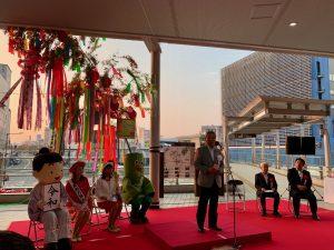 開会式であいさつをされる川村実行委員長。