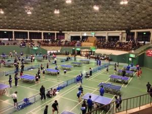 高岡市民体育館において高岡地区卓球選手権大会