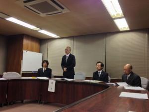 第23代のホームタウン実行委員委員長、千秋さんのあいさつ。