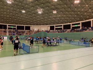 開会式前のフリーの練習風景