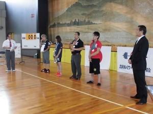 高岡市民体育大会・パワーリフティング開会式にて