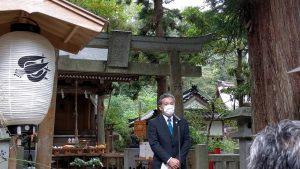 大伴神社で行われた大伴家持顕彰祭にて。