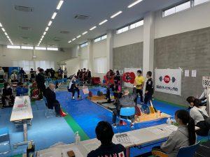 今季初の大会となった県総合体育センターでのパワーリフティング・ベンチプレス大会。
