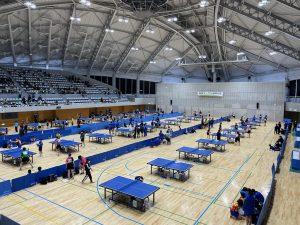 なんとか無事に開催できた高岡オープン卓球大会