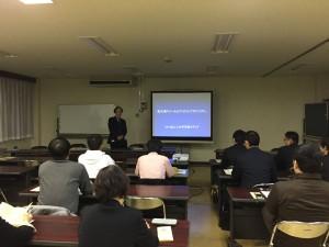 最初の講師は、FMいみずの柴田茂樹氏。