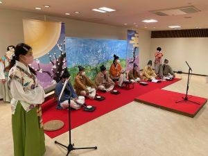 今年も動画での開催となった万葉まつり・朗唱の会「梅花の宴」の収録