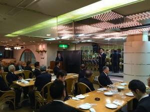 川島議員の自民同志会、会派での送別会