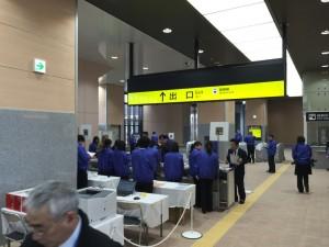 新高岡駅 試乗会の受付風景