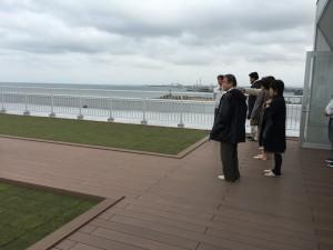 屋上のテラス・伏木港をはじめ富山湾が一望できます