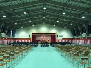 明日の卒業式を前に同窓会の入会式。