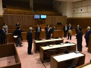 議会運営委員会のメンバーで視察。写真は岩手県花巻市議会。