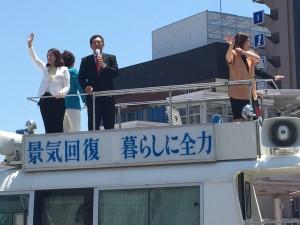 高岡駅前で拉致問題等について街宣をさせていただきました。