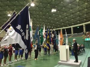 高岡市民体育大会総合開会式で選手宣誓の模様