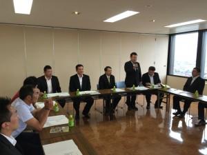 高岡商工ビルにて、自民党富山県第三選挙区支部青年局の役員会。