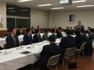 自民党青年部・局中央役員会にて、谷垣幹事長の挨拶。