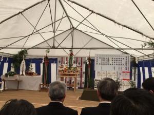 高岡駅前東地区複合ビルの安全祈願祭。