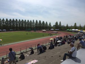 城光寺陸上競技場は暑かった・・・