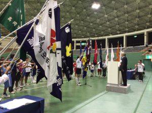 市民体育大会の総合開会式にて選手宣誓