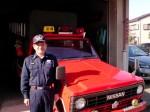 消防団での旧車両とのお別れ