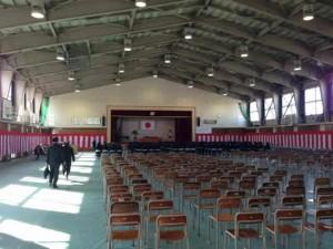 ※写真は、本日午後から行われた高岡南高校同窓会入会式直前に後ろからパチリ。